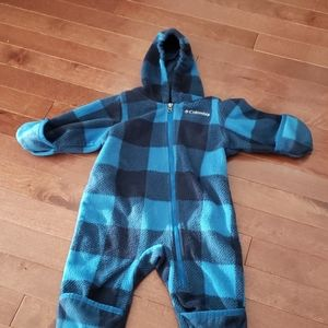 Columbia baby bunting suit